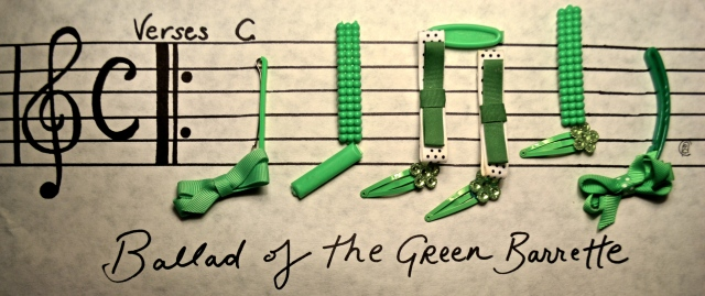 """SIGHT READING IS TOUGH, PILGRIM!"" - An artist rendering of the original score from ""The Ballad of the Green Barrette"""