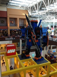 A giant Legoman dwarfs visitors to the Mall of America in October, 2013.  (Photo: PaC)