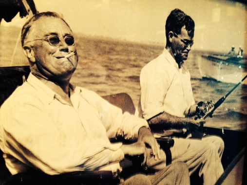 "DEEP SEA PURPLE - Nothing says ""weekend"" quite like FDR having a smoke on the water. (Photo unknown)"